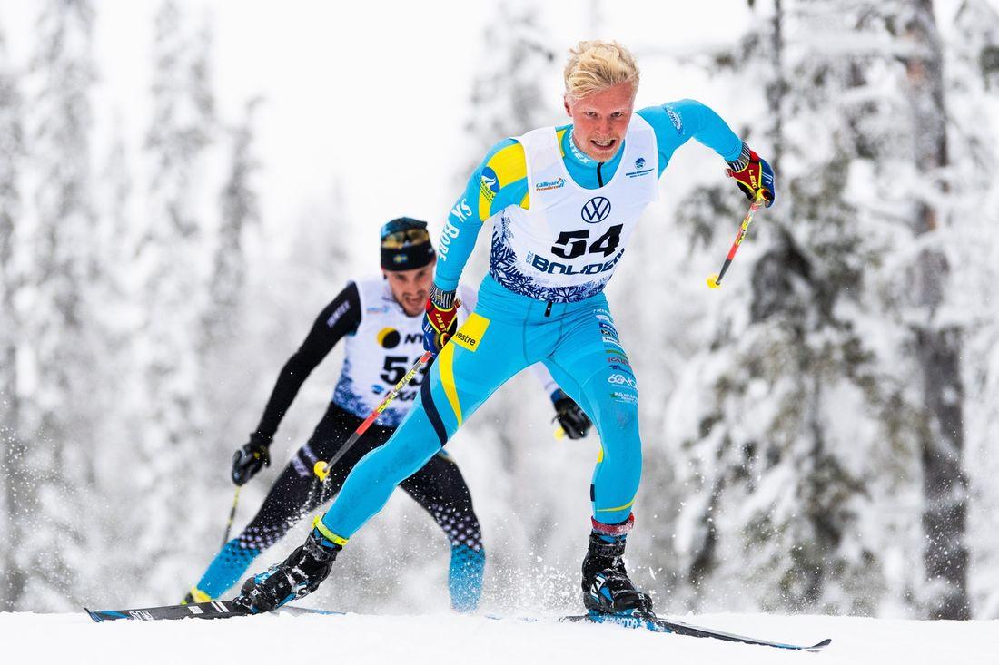 SK Bores Filip Danielsson har tagit en plats i Sveriges trupp tillvärldscupen i Lillehammer. FOTO: Bildbyrån/Mathias Bergeld.