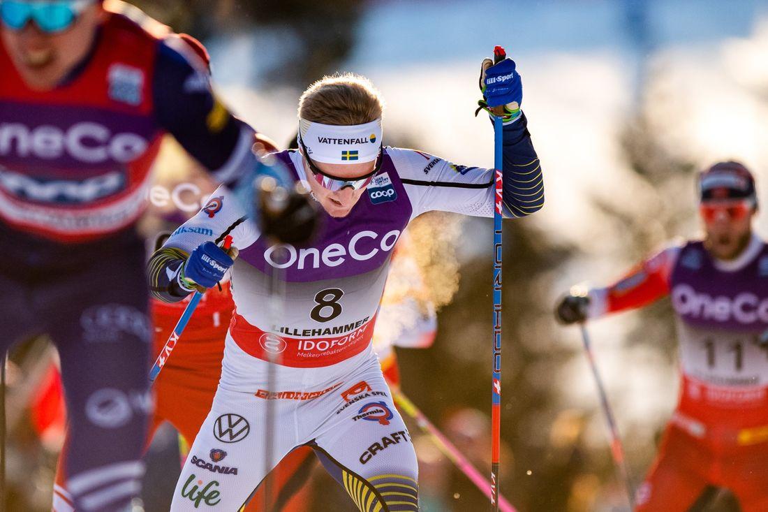 Jens Burman åkte starkt på skiathlonloppet i Lillehammer och slutade sjua. FOTO: Bildbyrån/Mathias Bergeld.