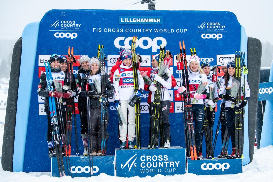 USA, Norge och Sverige på pallen. FOTO: Bildbyrån/Mathias Bergeld.