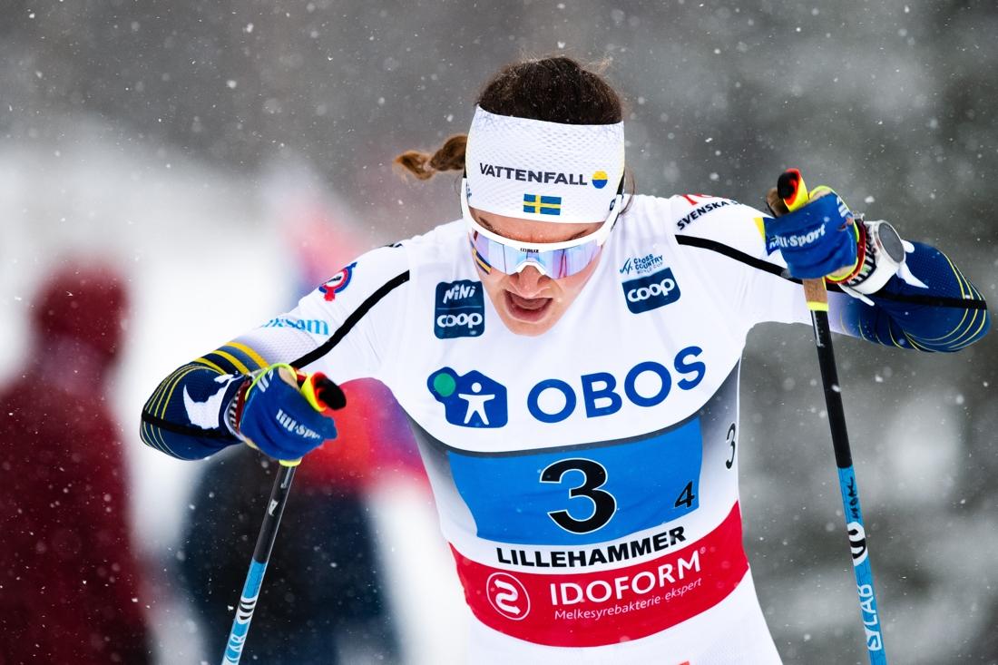 Moa Lundgren förde Sverige till en tredjeplats. FOTO: Bildbyrån/Mathias Bergeld.
