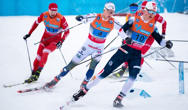Axel Ekström avslutade för Sverige som slutade sexa. FOTO: Bildbyrån/Mathias Bergeld.