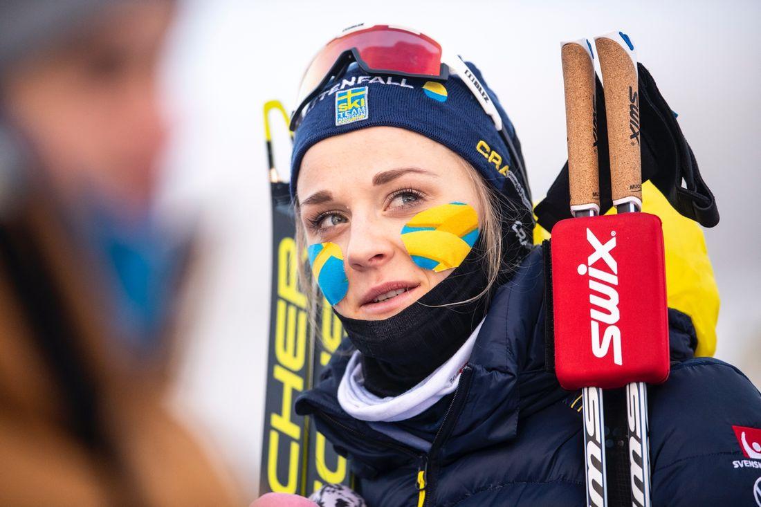 Stina Nilsson hade andra tid på prologen i Davos. FOTO: Bildbyrån/Carl Sandin.
