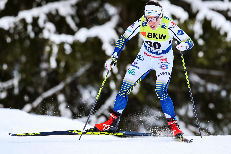Charlotte Kalla på väg mot tionde plats i Davos. FOTO: Bildbyrån - GEPA PICTURES/Patrick Steiner.
