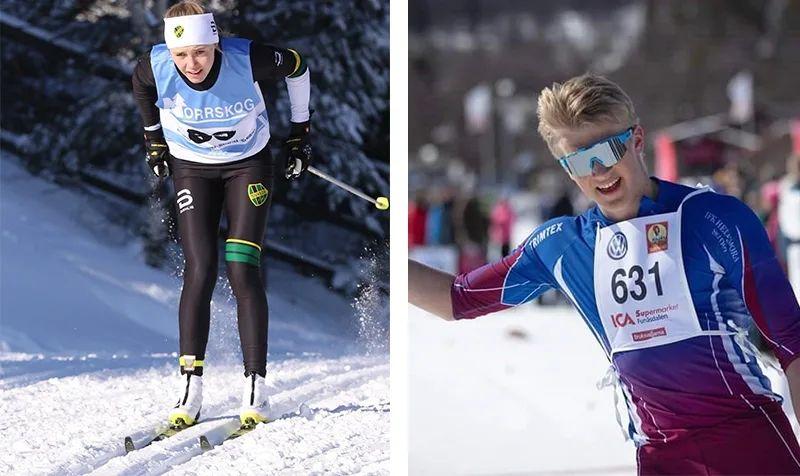 Märta Rosenberg och Edvin Anger är två av fyra längdåkare som tagits ut i truppen till världsungdoms-OS.