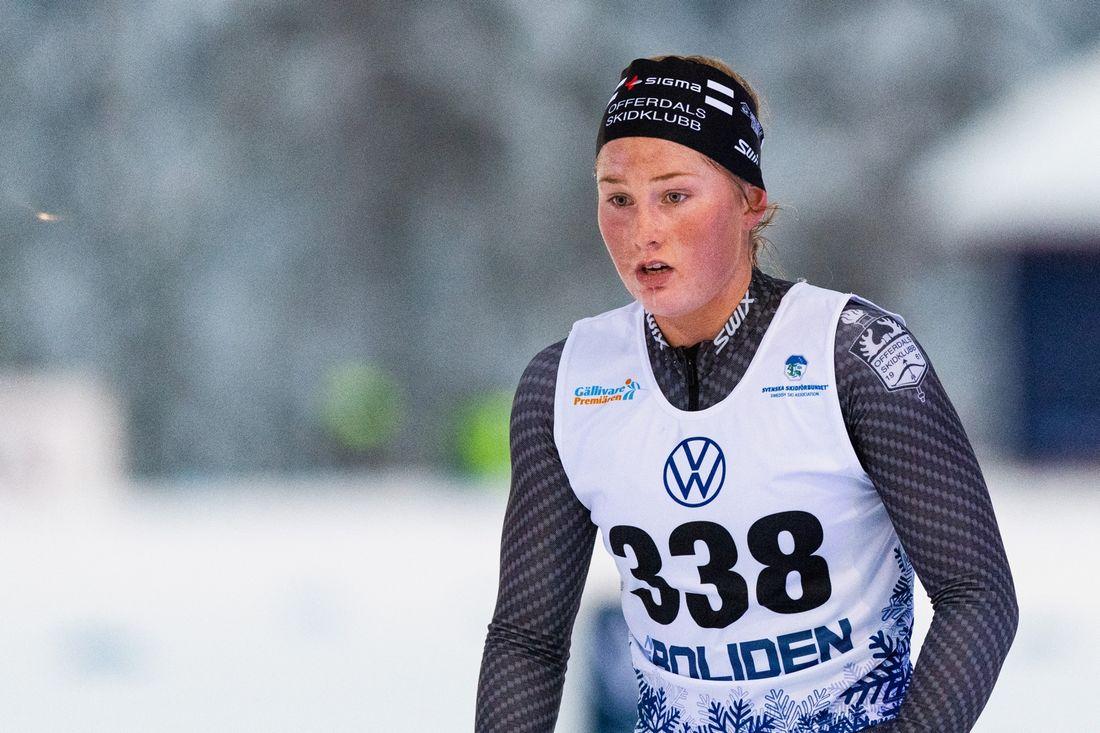 Tilde Bångman, Offerdals SK, är en av många juniorer som åker Scandic cup i Östersund i helgen. FOTO: Bildbyrån/Mathias Bergeld.