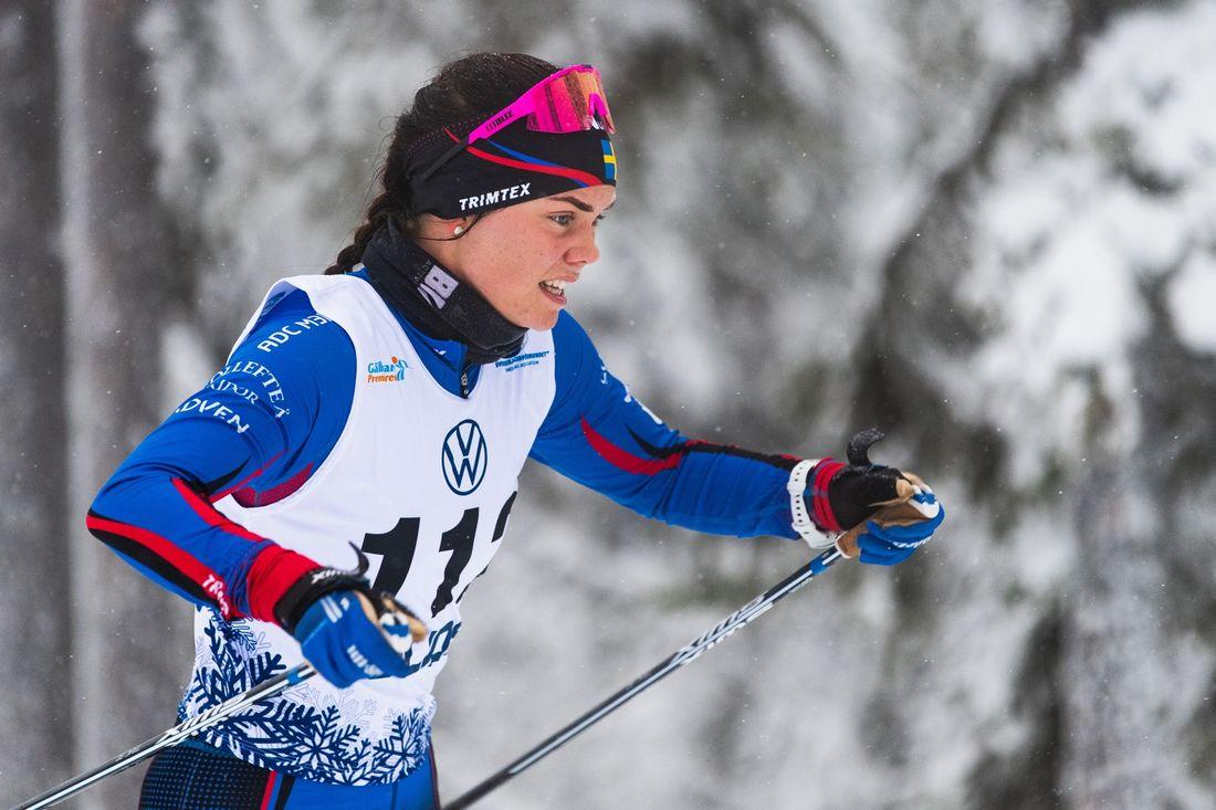 Jenny Solin vann sprinten i Östersund på lördagen. FOTO: Bildbyrån/Mathias Bergeld.