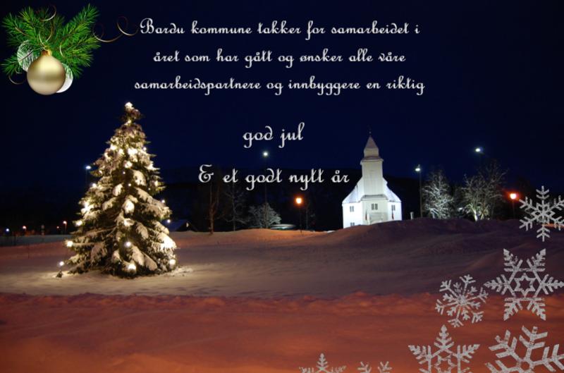 God jul fra Bardu kommune 2019_med samarbeidspartnere