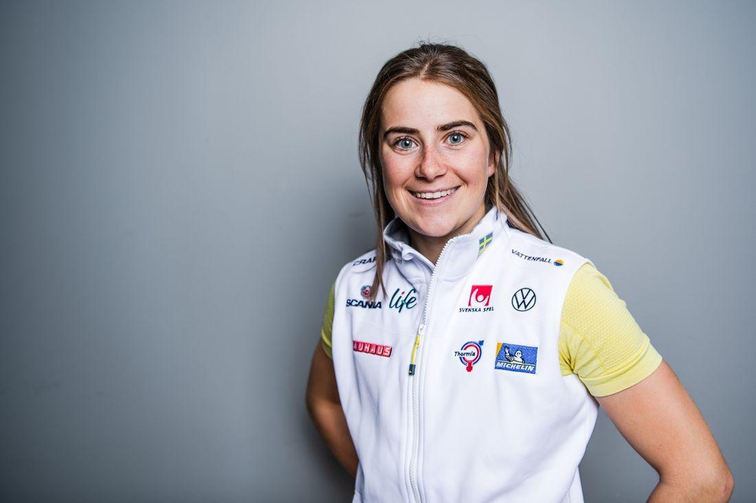 Ebba Andersson är klar för att åka Tour de Ski efter sin knäskada. FOTO: Bildbyrån/Simon Hastegård.