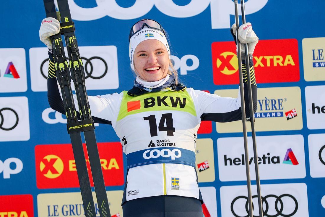 Med två världscupsegrar i bagaget blir förstås Linn Svahn storfavorit vid sprinten på Skandinaviska cupen i Norge efter nyår. FOTO: Bildbyrån - GEPA PICTURES/Patrick Steiner.