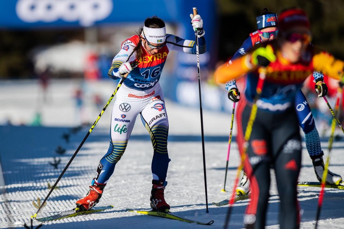 Charlotte Kalla slutade tolva i Tour de Ski. FOTO: Bildbyrån/Daniel Bergeld.
