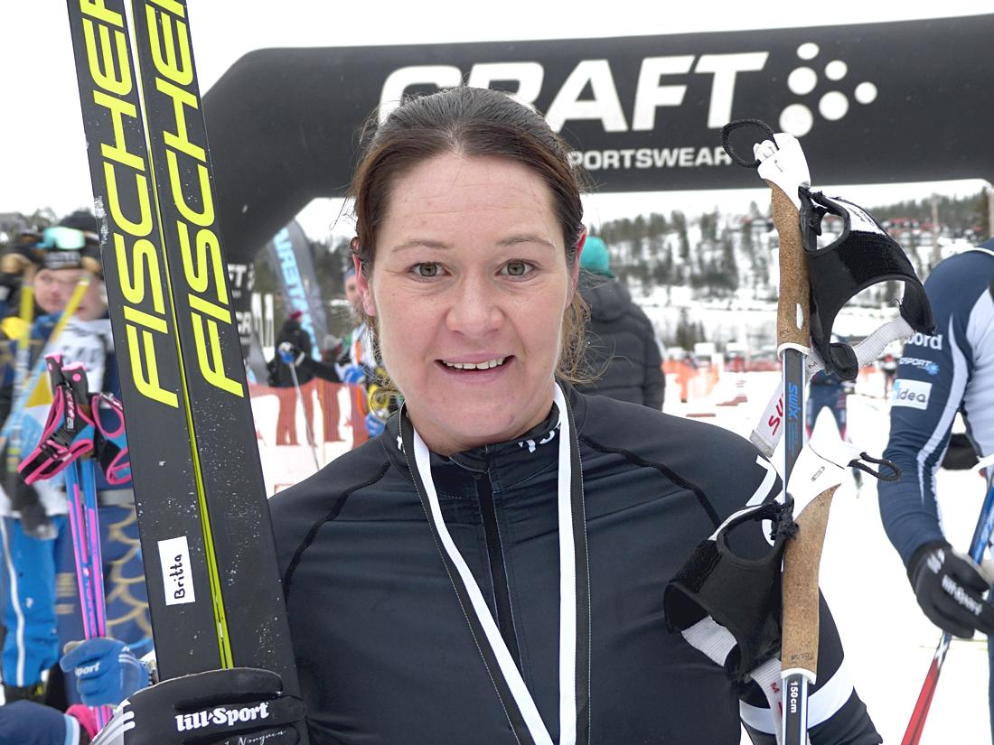 Britta Johansson Norgren var nöjd med känslan under Craft Ski Marathon. FOTO: Johan Trygg/Längd.se.