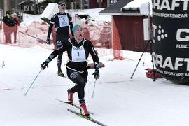 Bob Impola spurtade hem Craft Ski Marathon före Öyvind Moen Fjeld. FOTO: Johan Trygg/Längd.se.