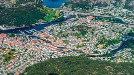 Egersun sentrum og Hafsøyne
