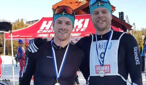 Ludwig Tärning och Jimmie Johnsson hade en tuff spurtfight på Skistart Ski Marathon, där Tärning drog längsta strået.