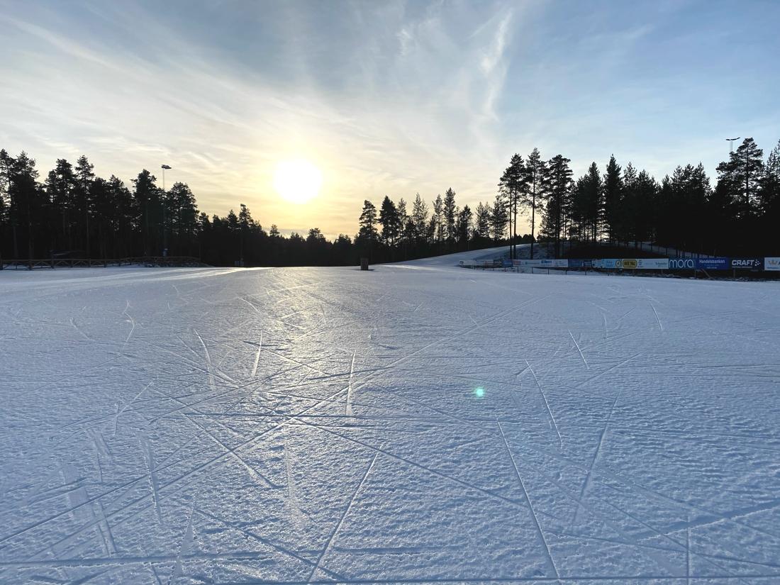 Start och mål för Moraloppet är vid Mora skidstadion. FOTO: Tomas Bredberg.