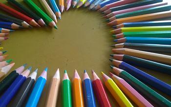 hjerte av blyanter