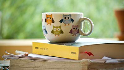 Tekopp på bøker
