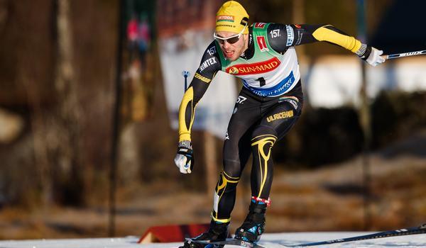 Viktor Thorn vann direkt i comebacken i Falun under Volkswagen cup. FOTO: Bildbyrån/Johan Axelsson.