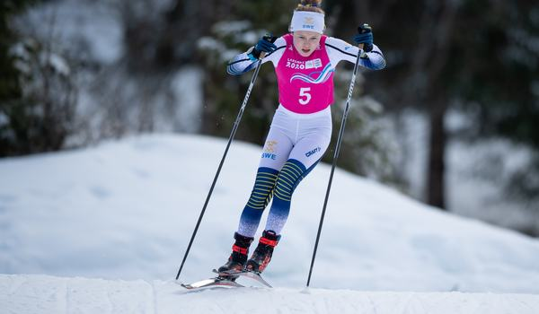 Tove Ericsson, här under ungdoms-OS, vann 5 kilometer klassiskt vid ungdomslandskampen i Falun. FOTO: Bildbyrån/Joel Marklund.
