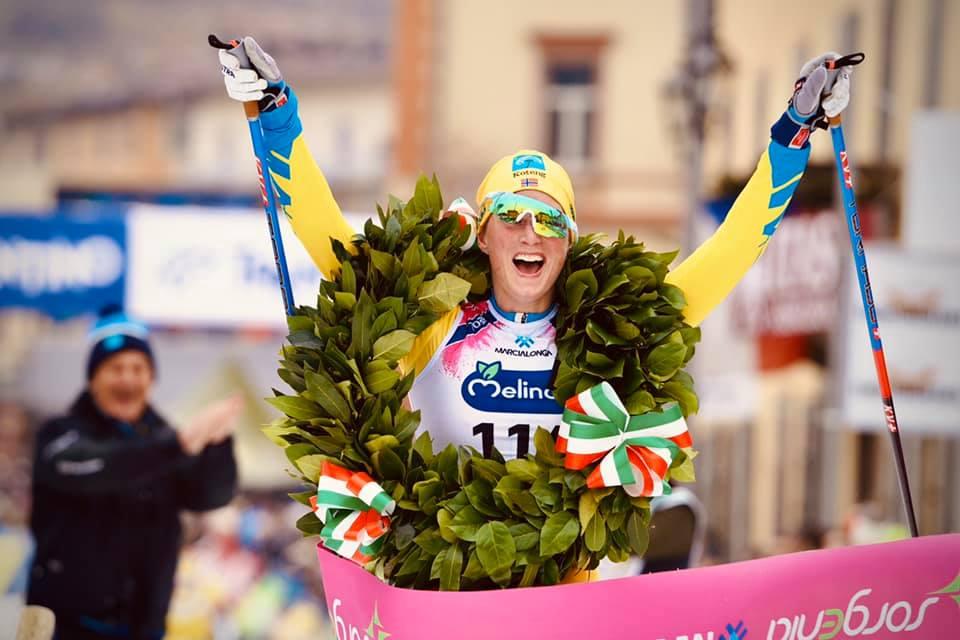 Kari Vikhagen Gjeitnes tog sin första triumf i Ski Classics. FOTO: Visma Ski Classics/Magnus Östh.