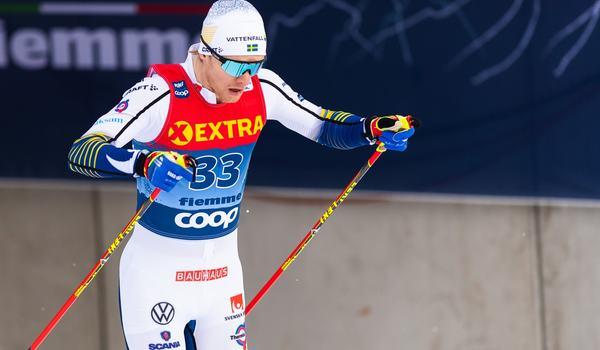 Oskar Svensson visade form som femma på sprinten i Oberstdorf. FOTO: Bildbyrån/Mathias Bergeld.