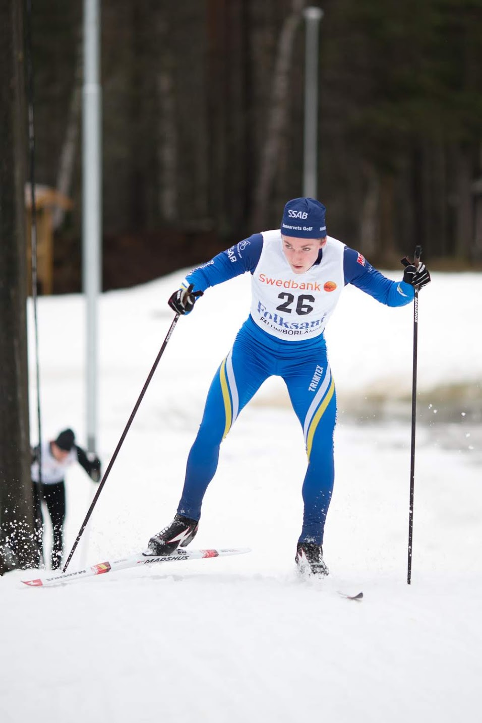 Nils Bergström hade som vanligt bra fart på skidorna. FOTO: Rikard Claesson.
