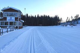 Vinterns Master SM genomförs på Lindbäcksstadion i Piteå där det bjuds på fina förhållanden. FOTO: Piteå skidallians.