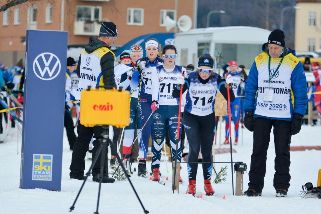 USM i Matfors startade idag och distanslopp stod på programmet. FOTO: Erika Walther.