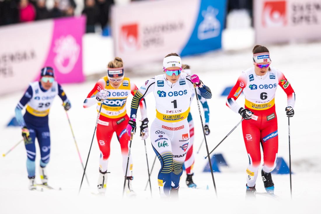 Johanna Hagström var snabbast i prologen och slutade nia. FOTO: Bildbyrån/Simon Hastegård.