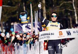 Britta Johansson Norgren vann för andra helgen i rad när hon tog hem Jizerska Padesatka i Tjeckien. FOTO: Visma Ski Classics/Magnus Östh.