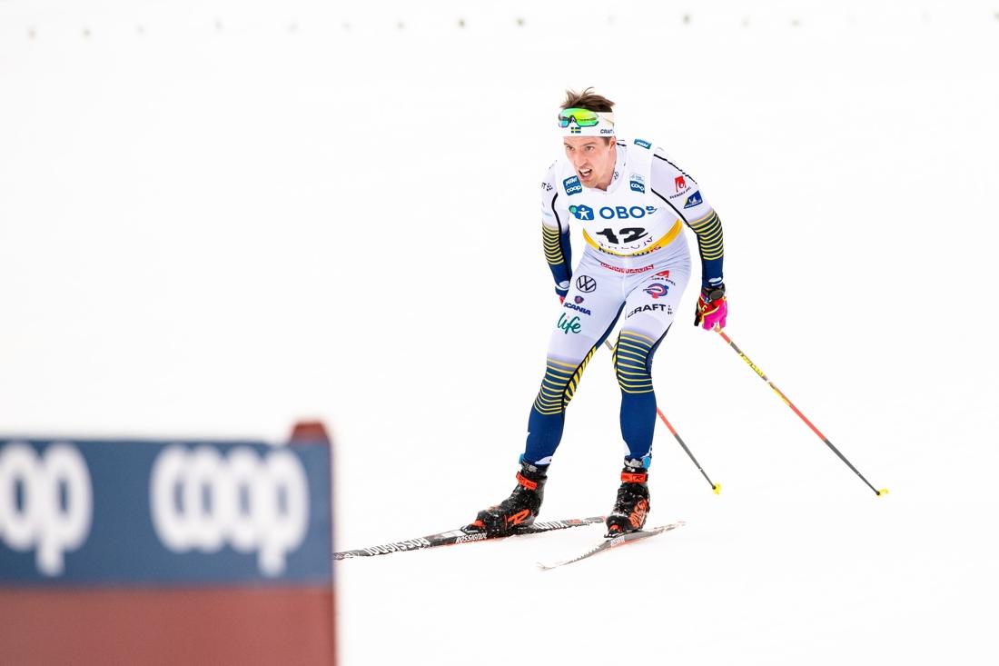 Calle Halfvarsson på väg mot 13:e plats. FOTO: Bildbyrån/Simon Hastegård.