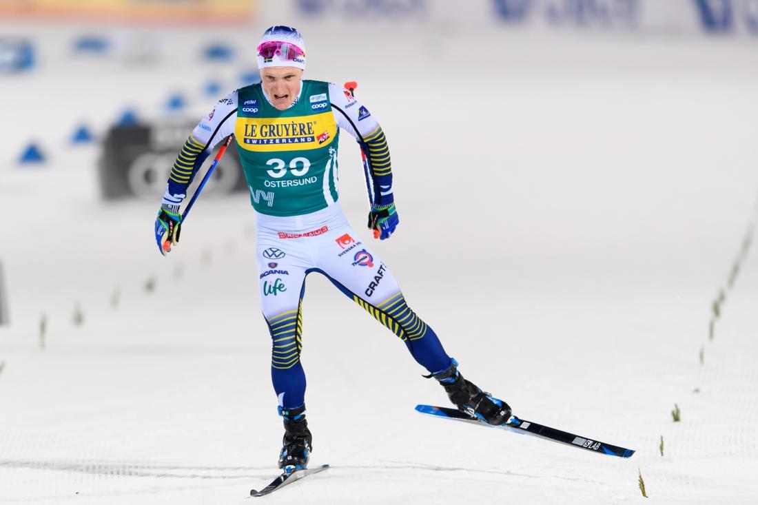 Jens Burman på väg mot mål. FOTO: Bildbyrån/Carl Sandin.