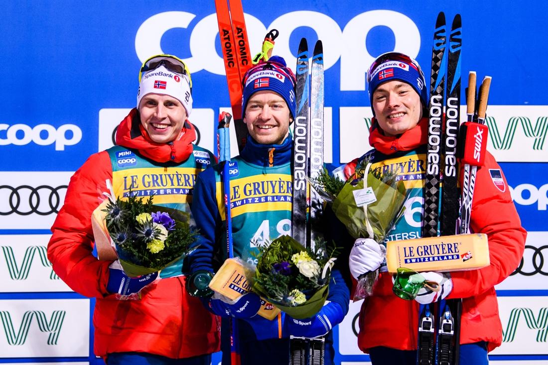 Topptrion: Krüger, Röthe och Krogh. FOTO: Bildbyrån/Carl Sandin.
