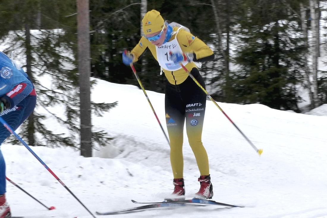 Ida Dahl visade fin form på 7-mila. Bilden dock från Craft Ski Marathon tidigare i vinter. FOTO: Johan Trygg/Längd.se.