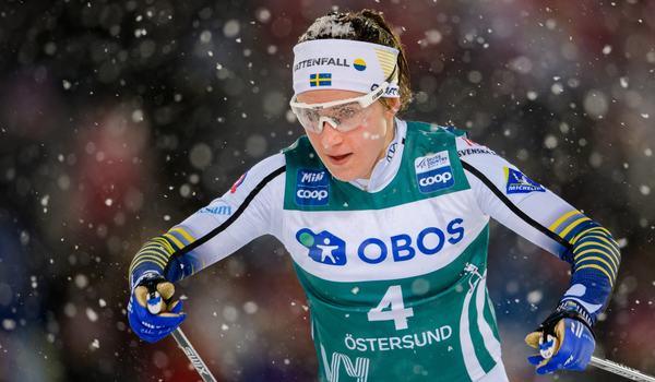 Ebba Andersson är en av många starka åkare i Sveriges trupp till JVM och U23-VM i Oberwiesenthal, Tyskland. FOTO: Bildbyrån/Carl Sandin.
