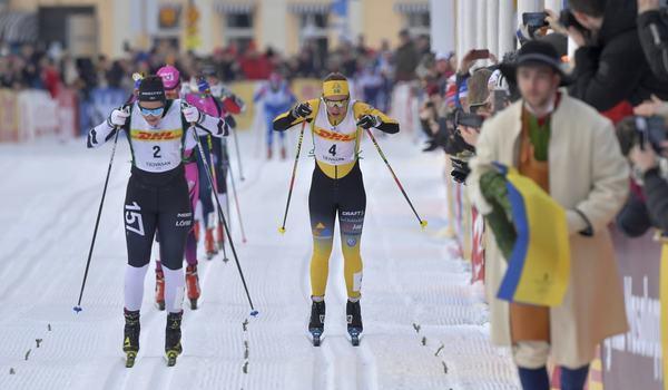 På lördags är det dags för 32:a upplagan av Tjejvasan. I fjol vann Britta Johansson Norgren före Lina Korsgren. FOTO: Vasaloppet.