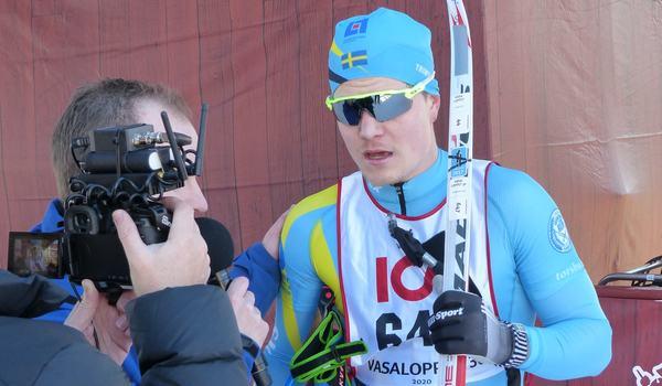 Gabriel Thorn svepte över Vasaloppet 30 på strax över 68 minuter. FOTO: Johan Trygg/Längd.se.