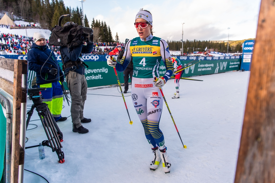 Anna Dyvik gjorde säsongens bästa tävling och slutade fyra i finalen. FOTO: Bildbyrån/Vegard Wivestad Grött.