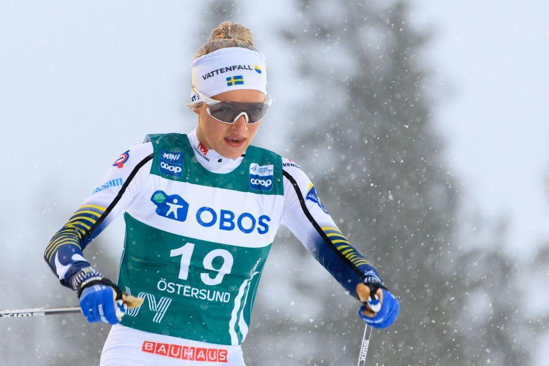 Frida Karlsson är tillbaka i världscupen till helgens tävlingar i Lahtis, Finland. FOTO:  Bildbyrån/Carl Sandin.