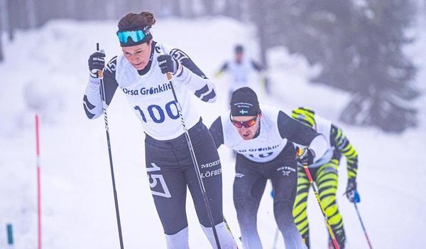 Britta Johansson har slipat på formen inför Vasaloppet i Grönklittsterrängen.