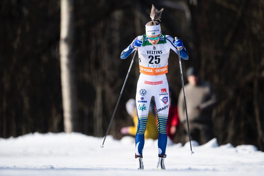 Frida Karlsson blev fyra efter en vass öppning på loppet. FOTO: Bildbyrån/Johanna Lundberg.