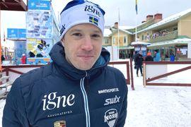 En glad Klas Nilsson efter femteplatsen på Vasaloppet. FOTO: Johan Trygg/Längd.se.