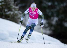 En sjätteplats tio sekunder från bronset åkte Märta Rosenberg in på vid JVM på 5 kilometer klassiskt. Bilden dock från ungdoms-OS tidigare i vinter. FOTO: Bildbyrån/Joel Marklund.
