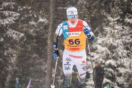Fredrik Andersson blev åtta U23-VM:s masstart över tre mil. FOTO: Lukas Johansson/Svenska skidförbundet.