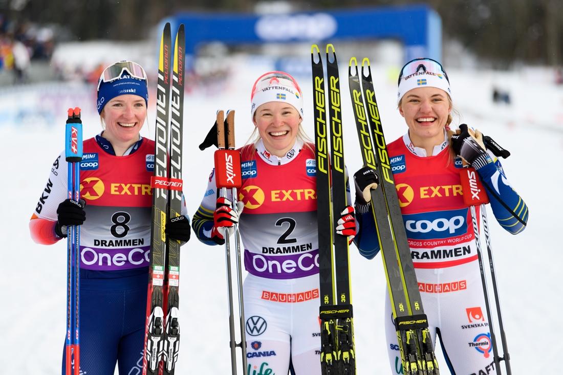 Topptrion Fähndrich, Sundling och Svahn. FOTO: Bildbyrån/Mathias Bergeld.