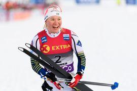 Jonna Sundling tog säsongens andra världscupseger en här vintern när hon triumferade i norska Konnerud. FOTO: Bildbyrån/Mathias Bergeld.