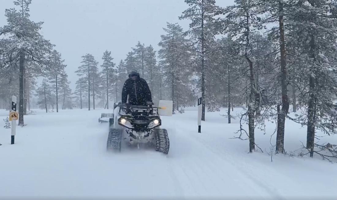 Så här såg det ut i Garbergsterrängen tisdag 3 mars. FOTO: IFK Mora SK.
