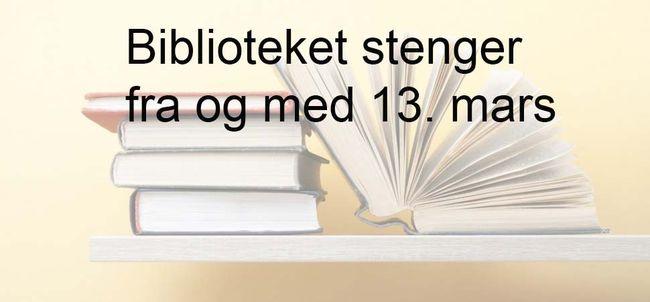 biblioteket stenger