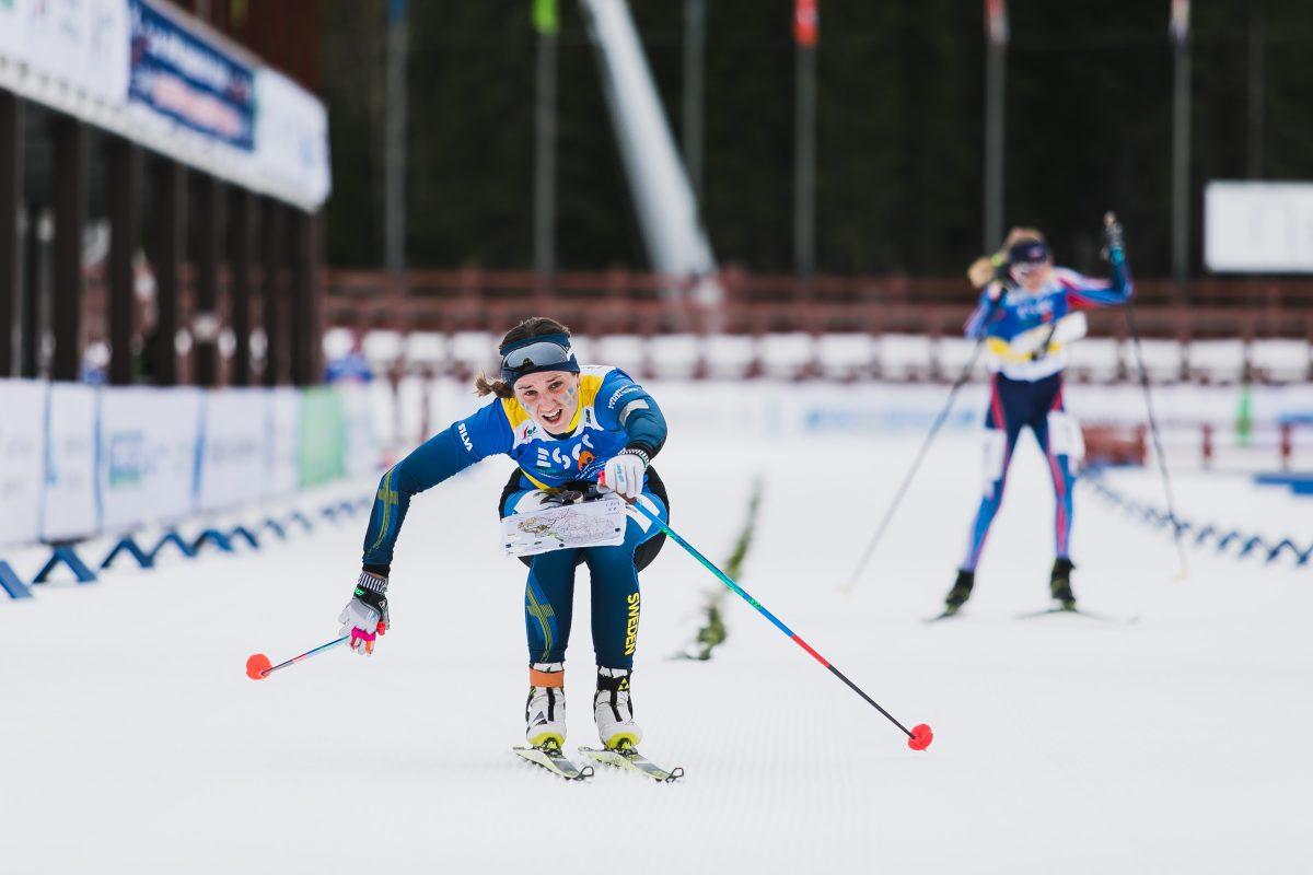 Magdalena Olsson säkrade guldet med en vass spurt. FOTO:esoc2020.