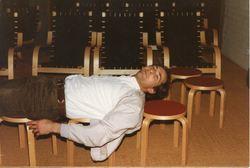Arnfinn i horisontalen Kaupanger 1984